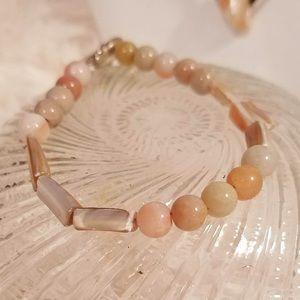 Vintage Genuine Gemstone Beaded Bracelet
